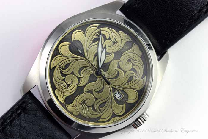 Hand Engraved Watch Dial