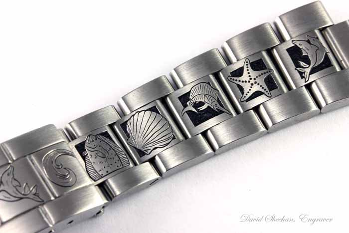 Hand Engraved Rolex Band