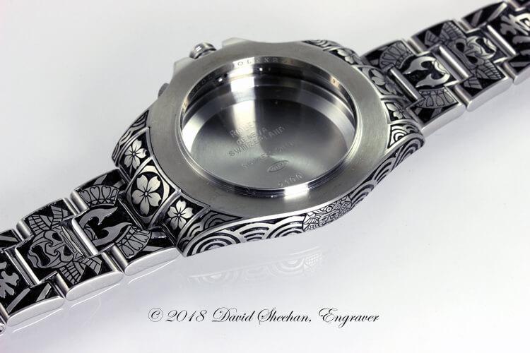 Samurai Rolex hand engraved