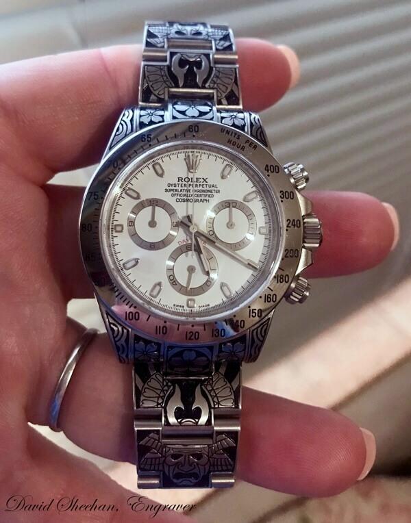 Hand Engraved Rolex Daytona