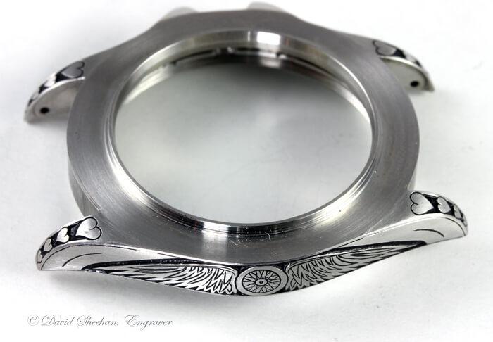 Hand Engraved Vintage Rolex