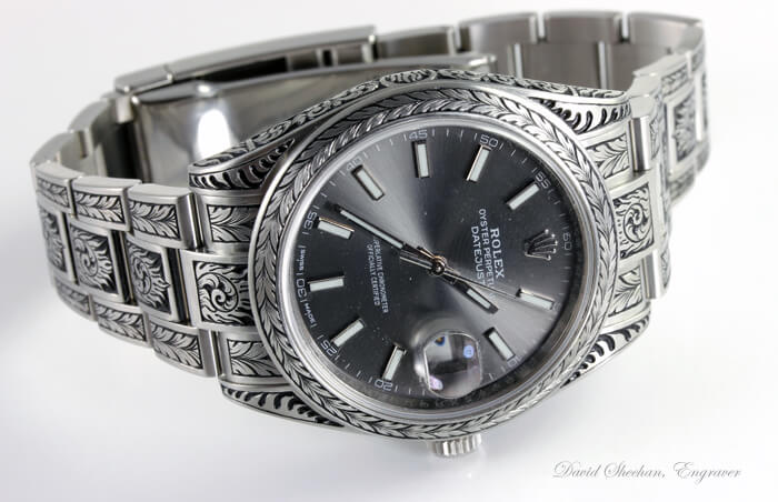 Rolex watch engraving
