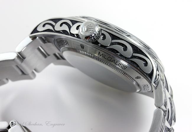 Watch Engraving - Tribal Motif