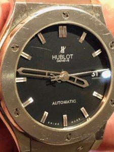 Engraved Hublot Watch